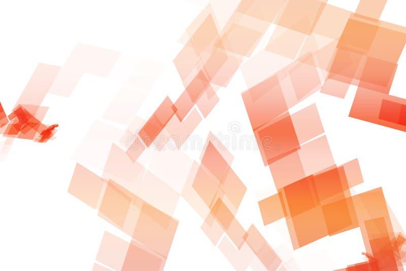 阻拦机械橙色技术 向量例证
