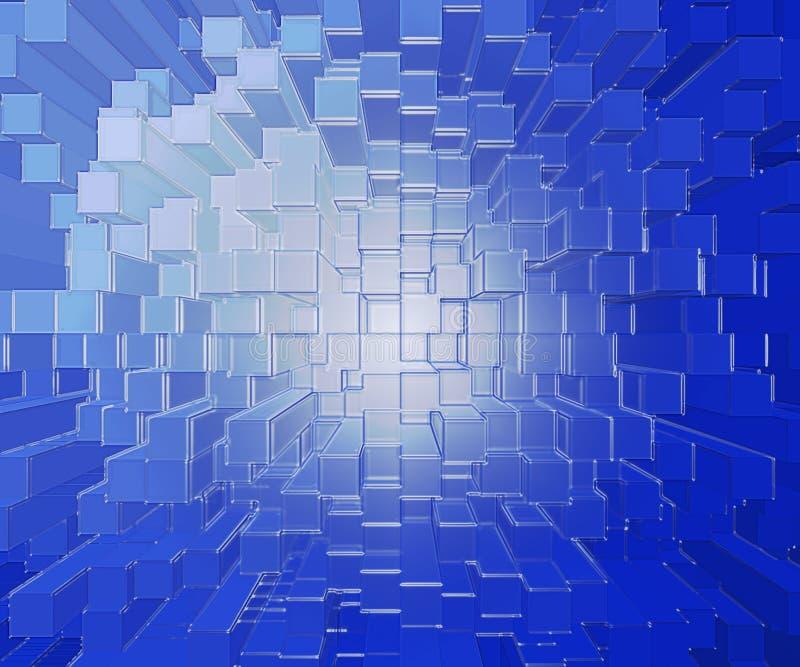 阻拦玻璃塑料 皇族释放例证