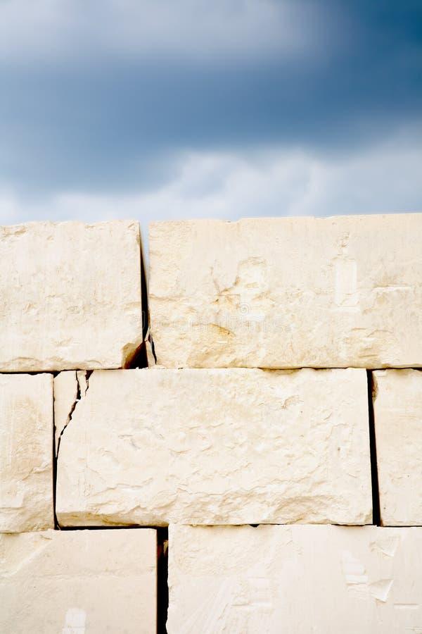阻拦石灰石 库存照片