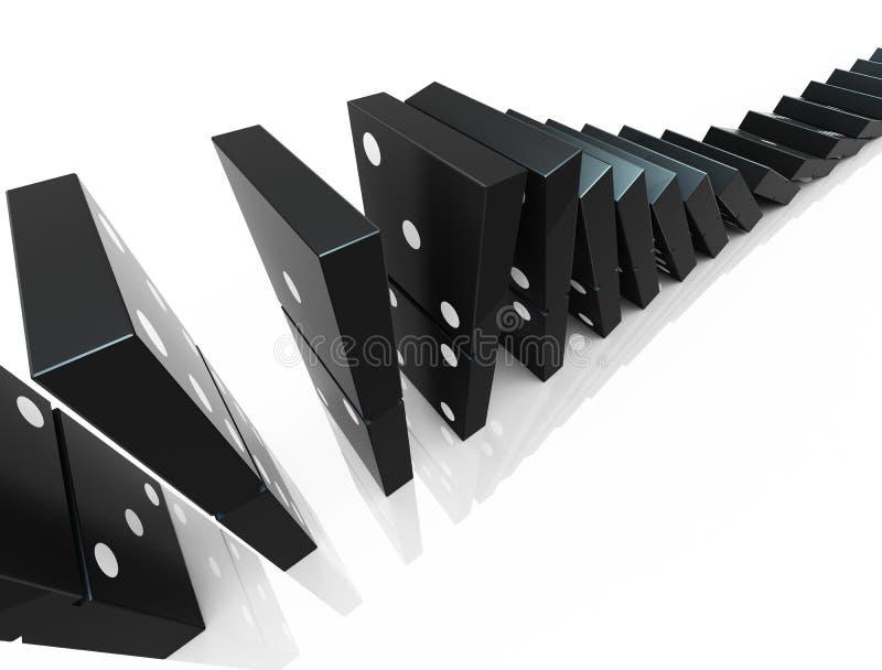 阻拦Domino 库存例证
