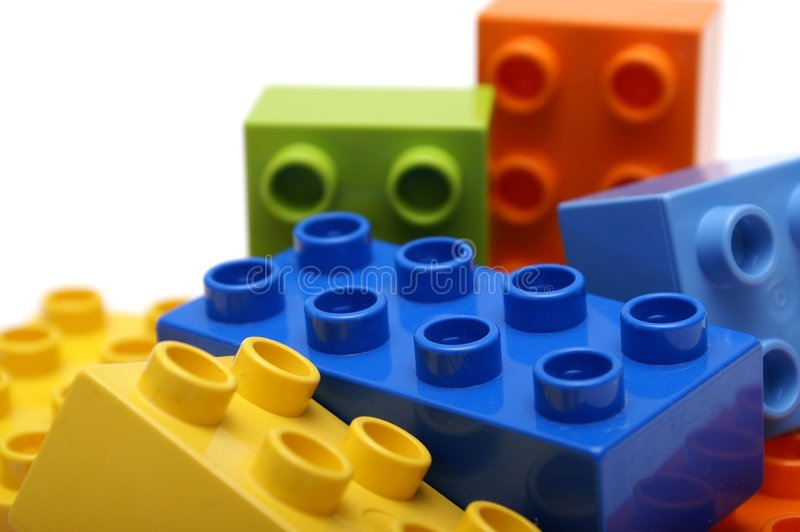 阻拦lego 库存图片