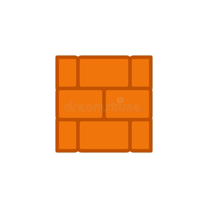 阻止壁平面图标 库存例证