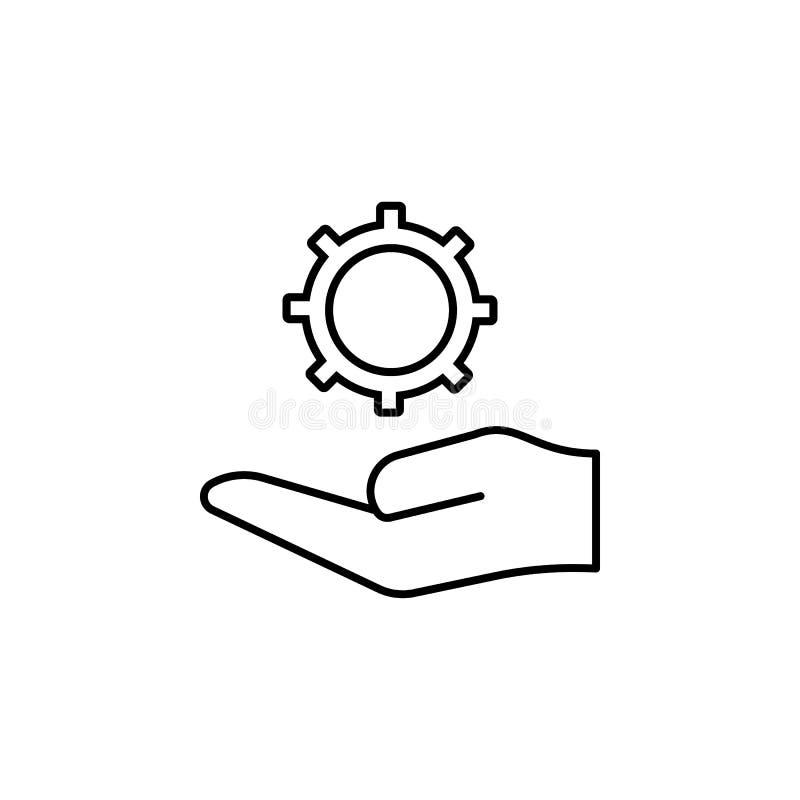 阻止指示概述象的手 简单的象,网络设计,流动app,信息图表的元素网站的 标志和sy 皇族释放例证