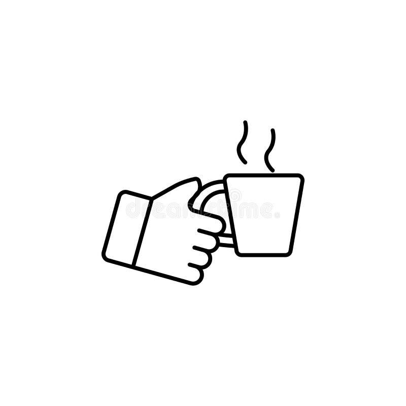 阻止杯子概述象的手 简单的象,网络设计,流动app,信息图表的元素网站的 标志和标志co 皇族释放例证