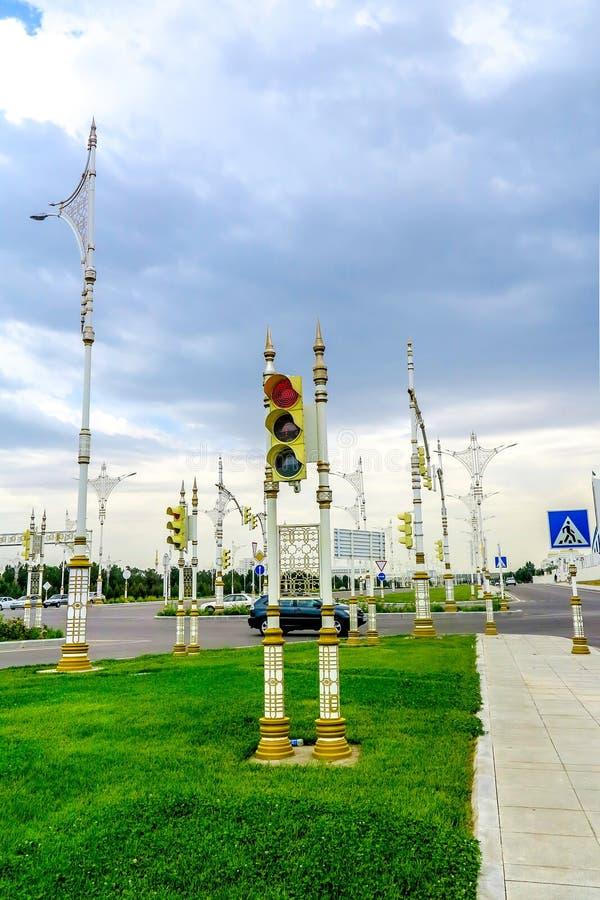 阿什伽巴特低强度交通03 免版税图库摄影