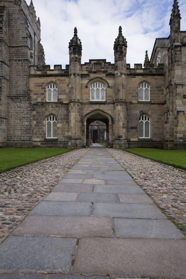 阿伯丁学院入口国王向英国 免版税库存照片