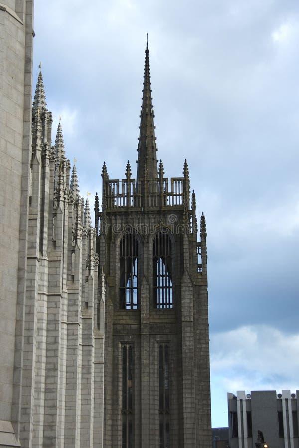 阿伯丁学院marishall英国 阿伯丁,苏格兰,英国 库存照片