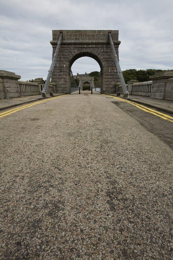 阿伯丁桥梁暂挂英国惠灵顿 图库摄影