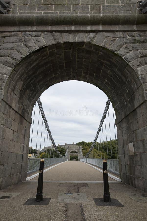 阿伯丁桥梁暂挂英国惠灵顿 免版税图库摄影