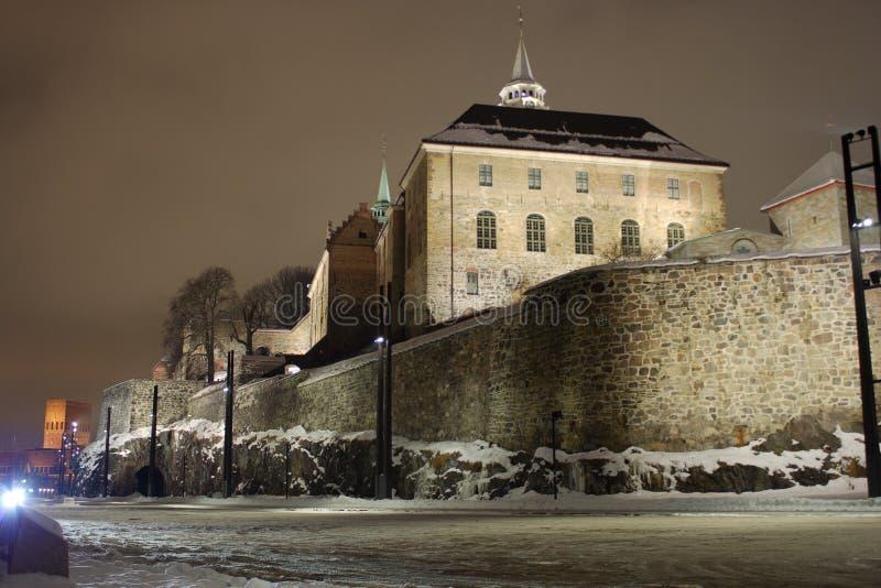 阿克什胡斯堡垒在奥斯陆,挪威 免版税库存照片