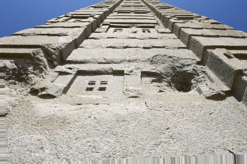 阿克苏姆,埃塞俄比亚联合国科教文组织世界遗产名录方尖碑  免版税库存图片