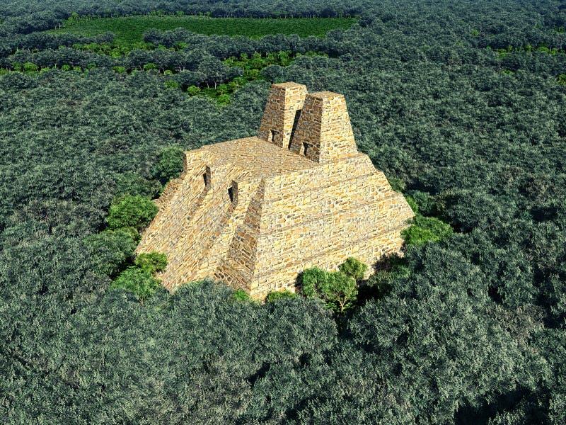 阿兹台克人的寺庙 皇族释放例证