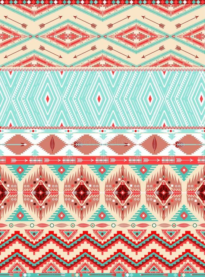 阿兹台克几何无缝的样式 皇族释放例证