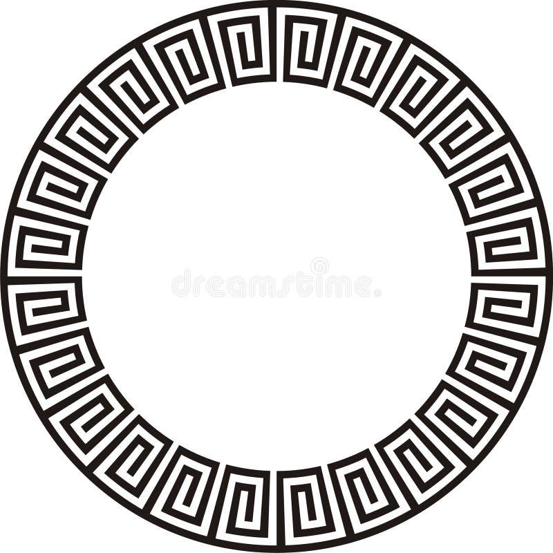 阿兹台克圆的设计 库存例证