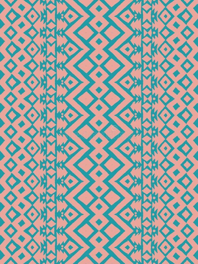 阿兹台克部族墨西哥无缝的样式 库存例证