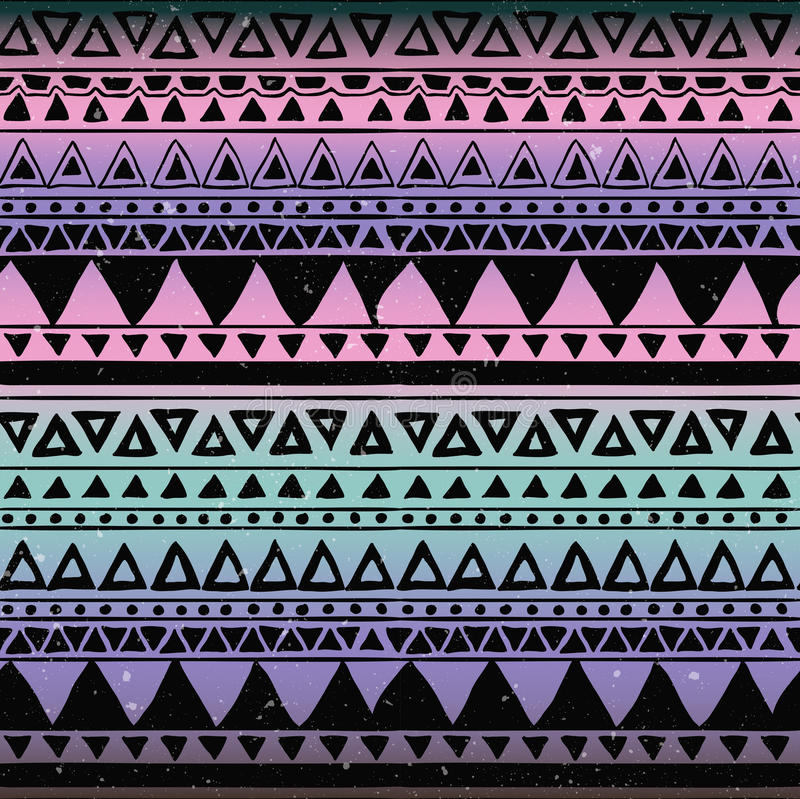 阿兹台克部族无缝的样式 库存例证