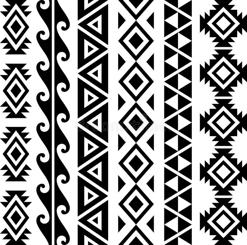 阿兹台克部族样式 库存例证