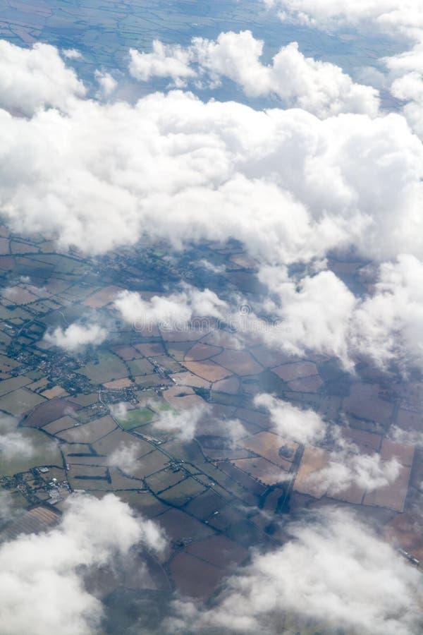 阿列尔射击了从云彩上 免版税库存照片
