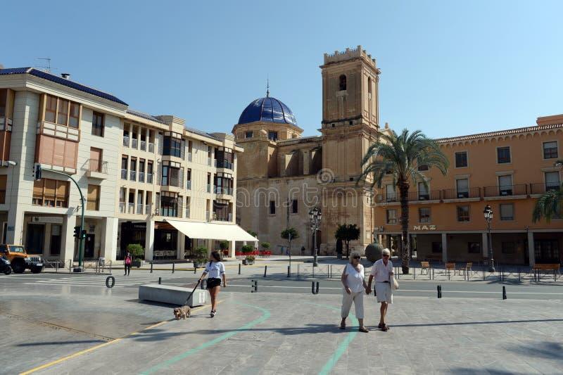 阿利坎特省埃尔切圣玛丽亚圣殿,巴伦西亚社区,西班牙布兰卡海岸,欧洲 库存图片