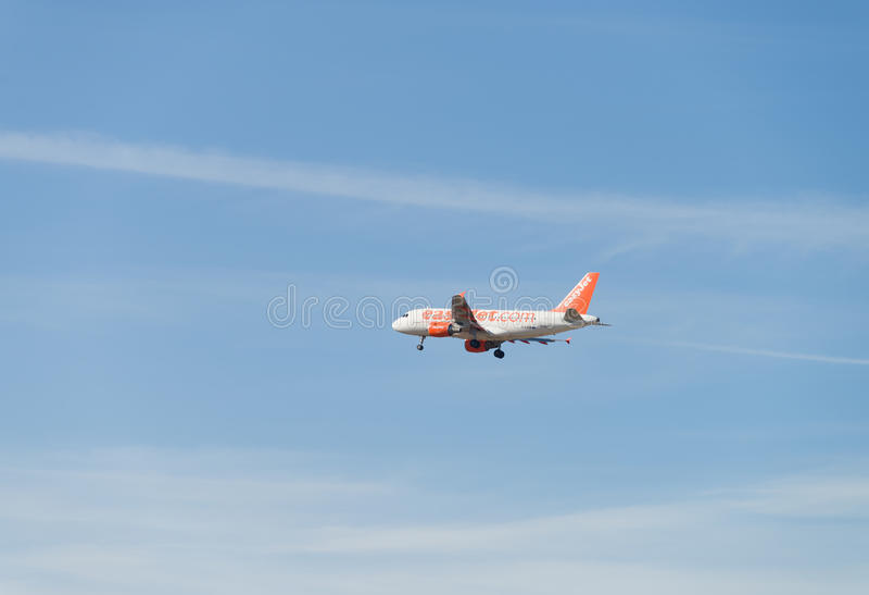 Easyjet航空器 库存图片