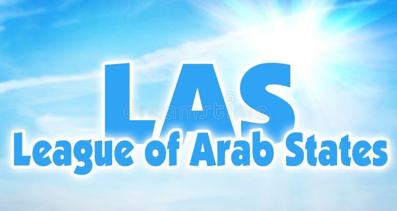 阿剌伯联盟,LAS 阿拉伯地区国家的联盟  免版税库存照片