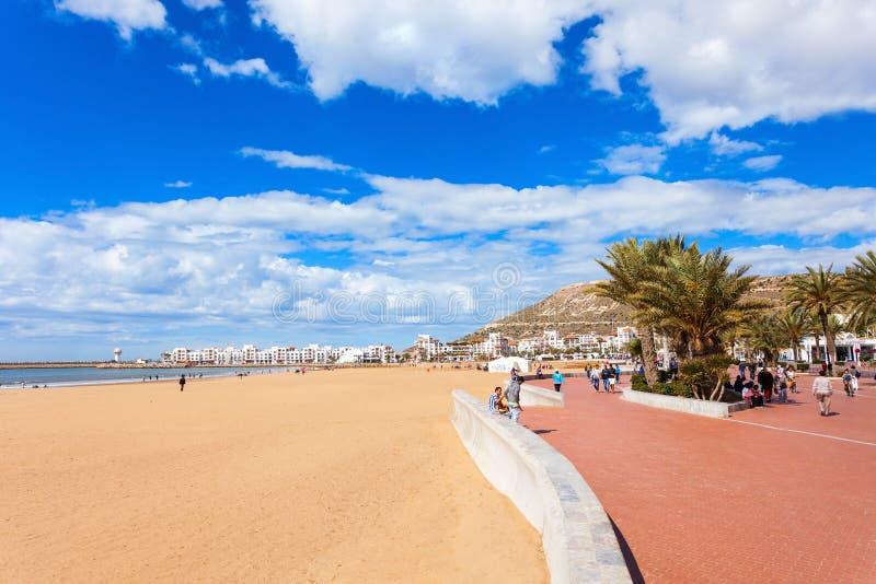 阿加迪尔市,摩洛哥 库存照片