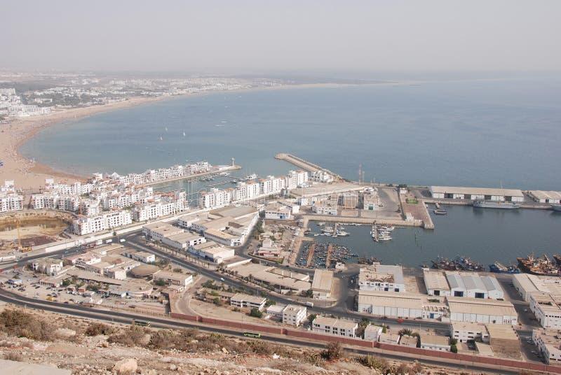 阿加迪尔摩洛哥端口 库存照片
