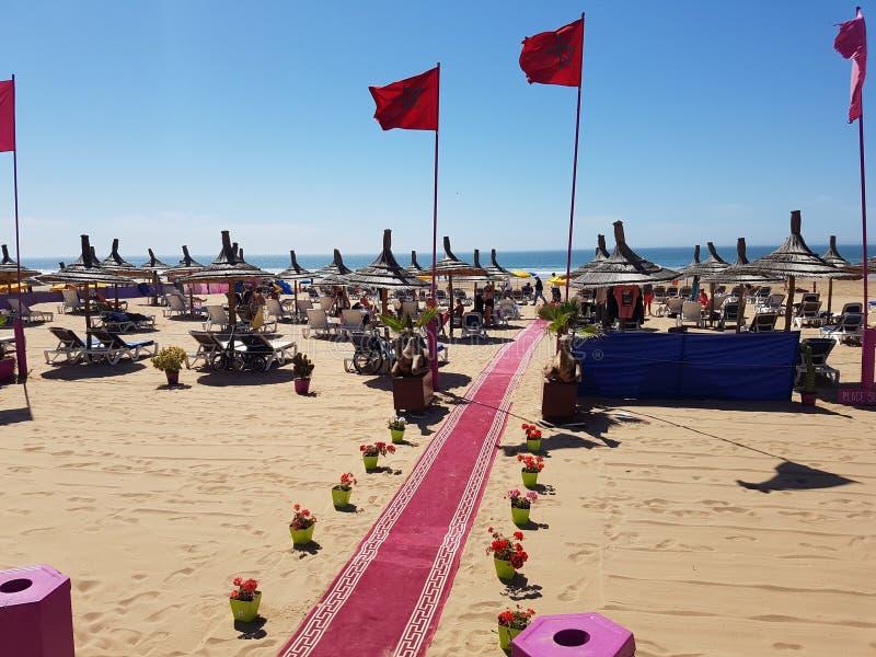 阿加迪尔海滩,摩洛哥 库存照片