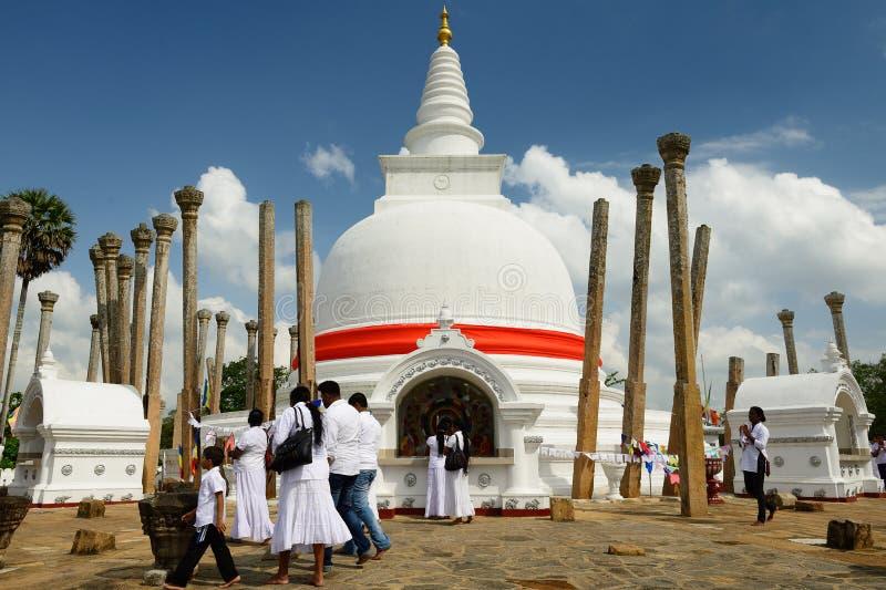 阿努拉德普勒废墟, Thuparamaya dagoba,斯里兰卡 库存图片