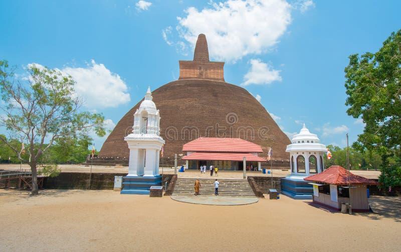 阿努拉德普勒,斯里兰卡废墟  图库摄影