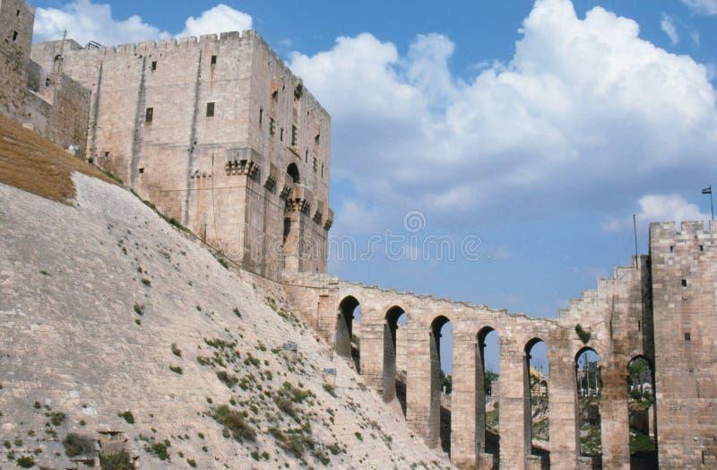 阿勒颇城堡叙利亚 库存照片