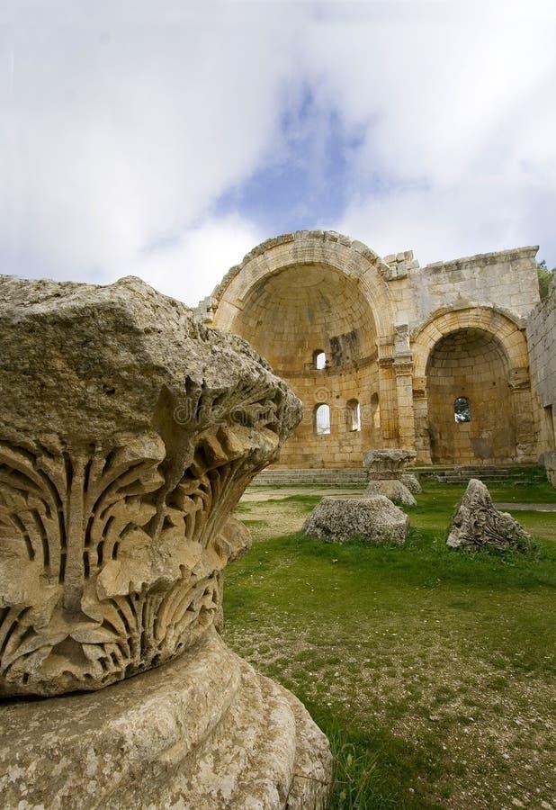 阿勒颇大教堂圣徒simeon叙利亚 库存照片