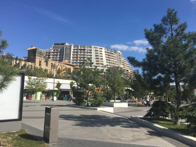 阿卡迪亚海滩,傲德萨,乌克兰 免版税库存图片