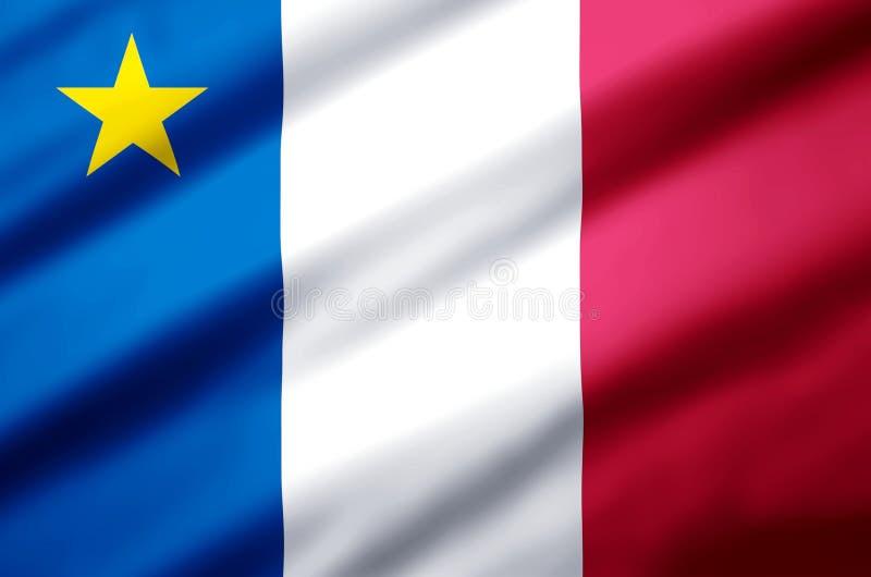 阿卡迪亚现实旗子例证 向量例证