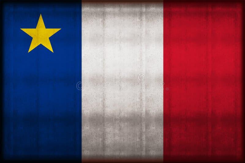 阿卡迪亚生锈的旗子例证 皇族释放例证