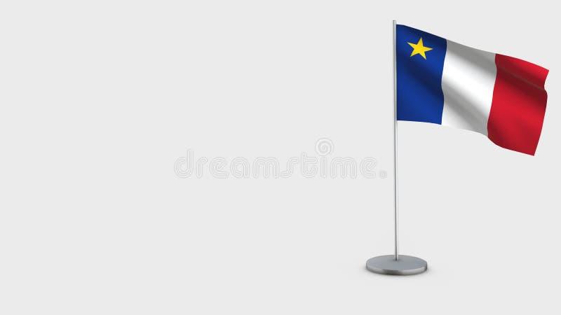 阿卡迪亚3D挥动的旗子例证 向量例证