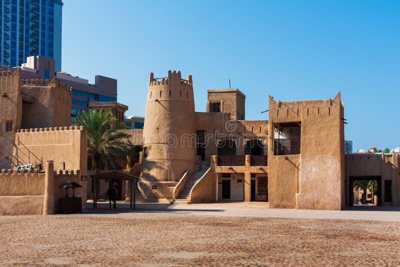 阿吉曼,阿拉伯联合酋长国- 2018年12月6日:阿吉曼博物馆sho 库存图片