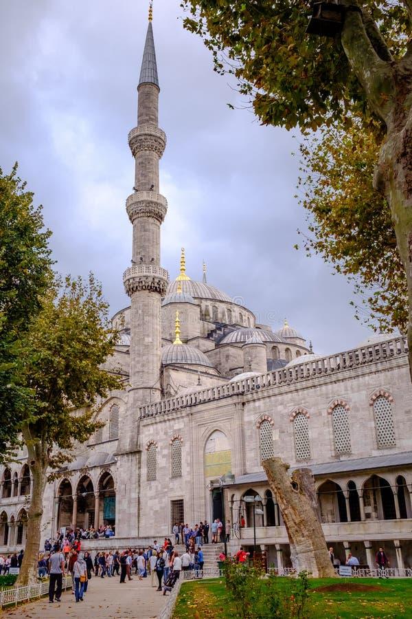 阿哈迈德・伊斯坦布尔清真寺苏丹火&# 免版税库存图片