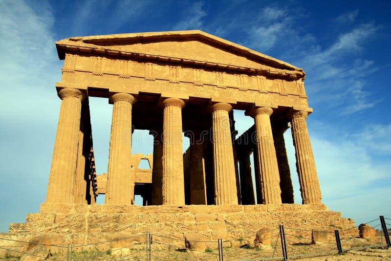 阿哥里根托concordia希腊意大利寺庙 免版税库存图片