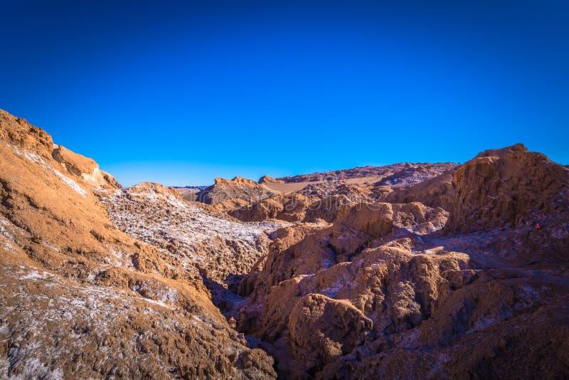 阿塔卡马沙漠,智利-月亮的谷的风景在阿塔卡马沙漠,智利 库存照片