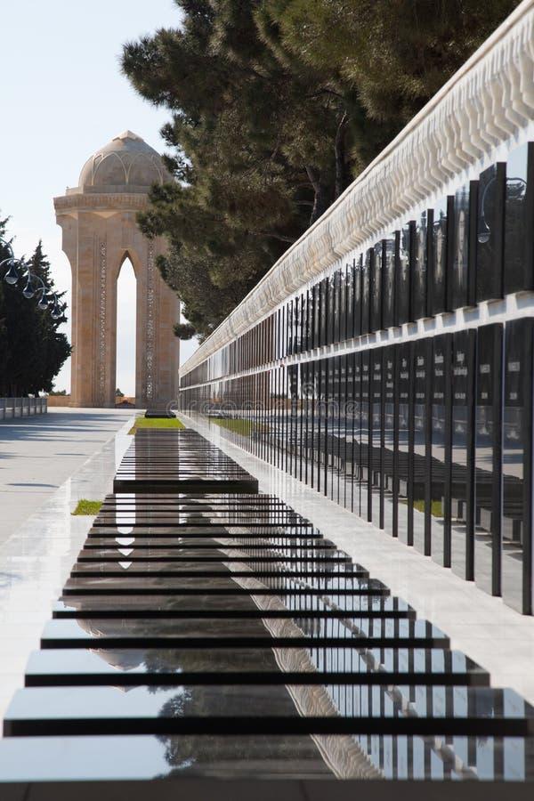 阿塞拜疆巴库纪念纪念碑革命 图库摄影