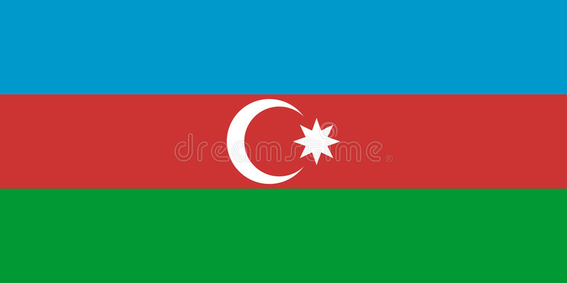阿塞拜疆标志 向量例证
