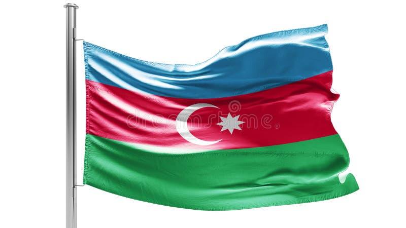 阿塞拜疆的旗子多云天空的 爱国心 向量例证