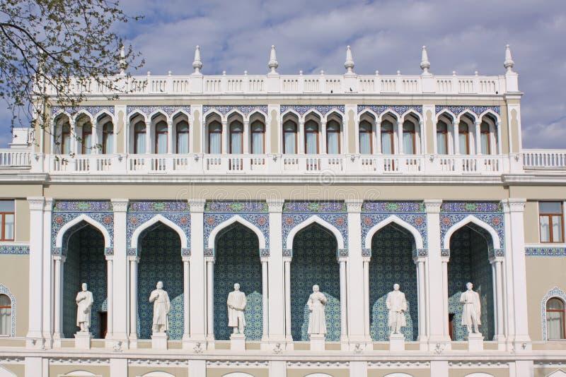 阿塞拜疆 秃头 以Nizami命名的阿塞拜疆文学博物馆 免版税库存照片