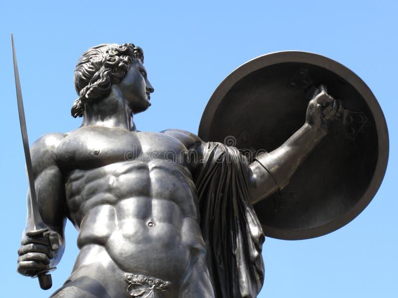 阿奇里斯纪念碑惠灵顿 库存图片
