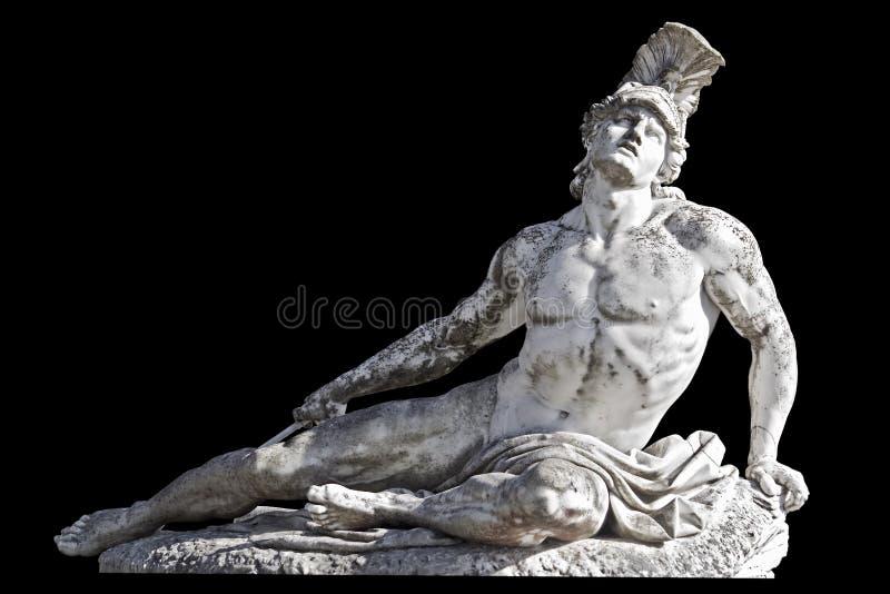 阿奇里斯雕象 库存图片
