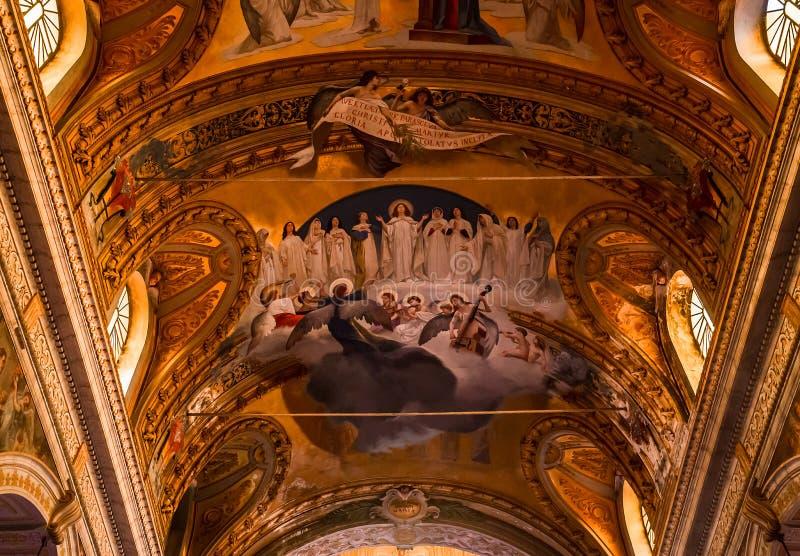 阿奇雷亚莱,西西里岛,意大利大教堂  免版税库存照片