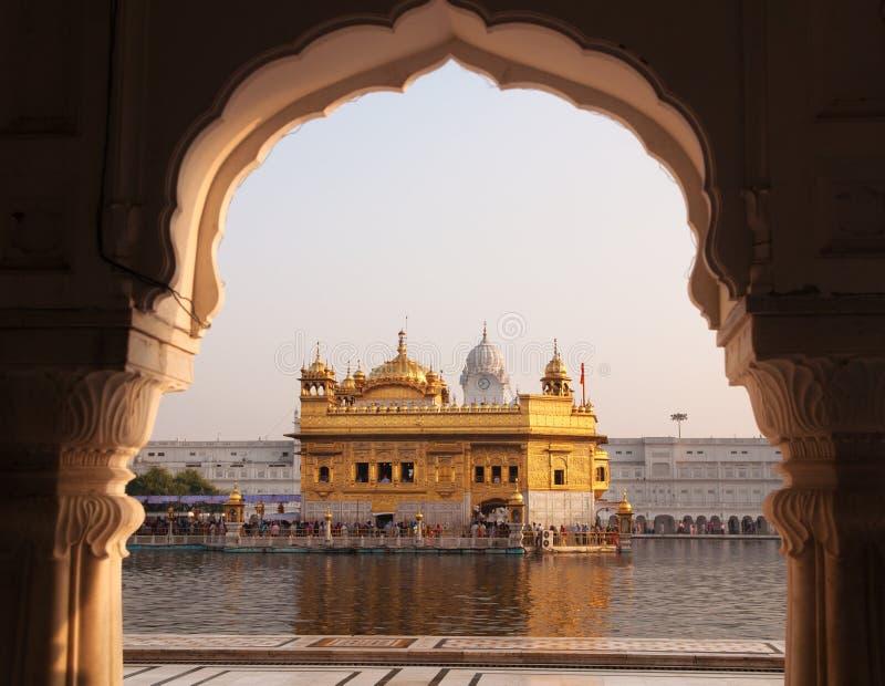 阿姆利则金黄寺庙-印度。 免版税库存照片