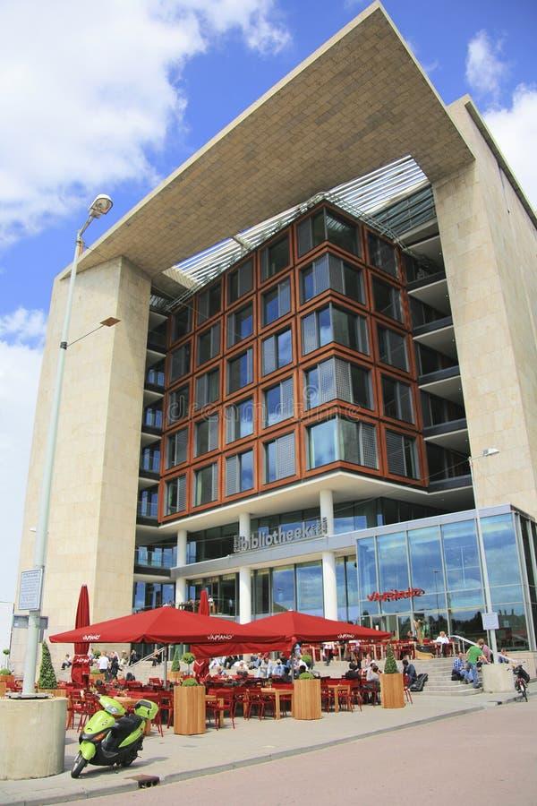 阿姆斯特丹中央图书馆外部看法  免版税库存照片
