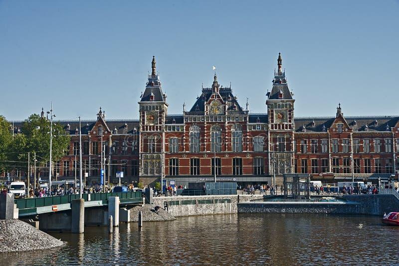 阿姆斯特丹中央驻地,荷兰 图库摄影